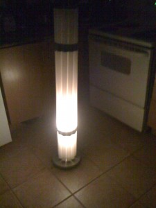 Recycled tube lamp