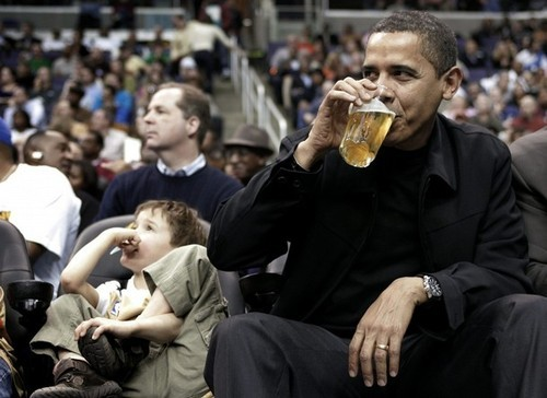 Kind of sad that the leader of the free world chose a Bud. Next time, try a Unibroue.