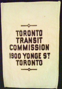 Is this an old Toronto Transit Commission token bag?